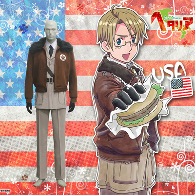 Hetalia Axis Powers United States Cosplay Kostym Karneval