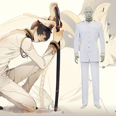Hetalia Axis Powers Japan Cosplay Kostym Karneval