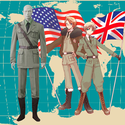 Hetalia Axis Powers United Kingdom Cosplay Costumes London