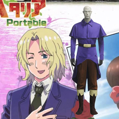 Hetalia Axis Powers France Cosplay Kostym Karneval
