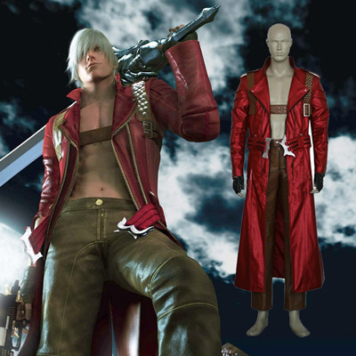 Devil May Cry 3 Dante third Cosplay Kostym Karneval
