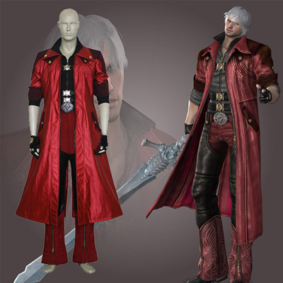 Devil May Cry 4 Dante IV Cosplay Kostym Karneval