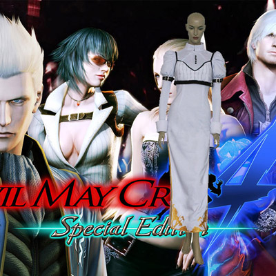 Devil May Cry 4 Kerry IV Cosplay Kostym Karneval