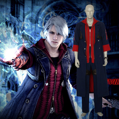 Devil May Cry 4 Nero 4 Cosplay Kostym Karneval