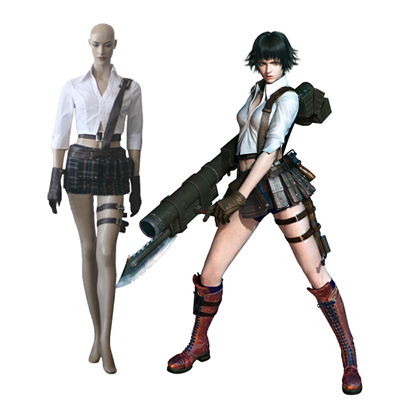Devil May Cry Three Three Lady Cosplay Kostuum Carnaval Halloween