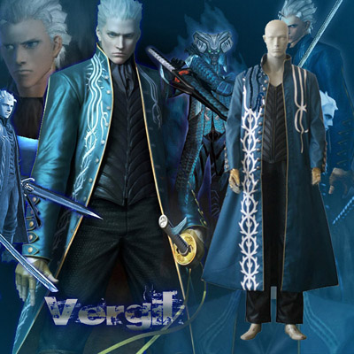 Devil May Cry 3 Virgil third Cosplay Kostuum Carnaval Halloween