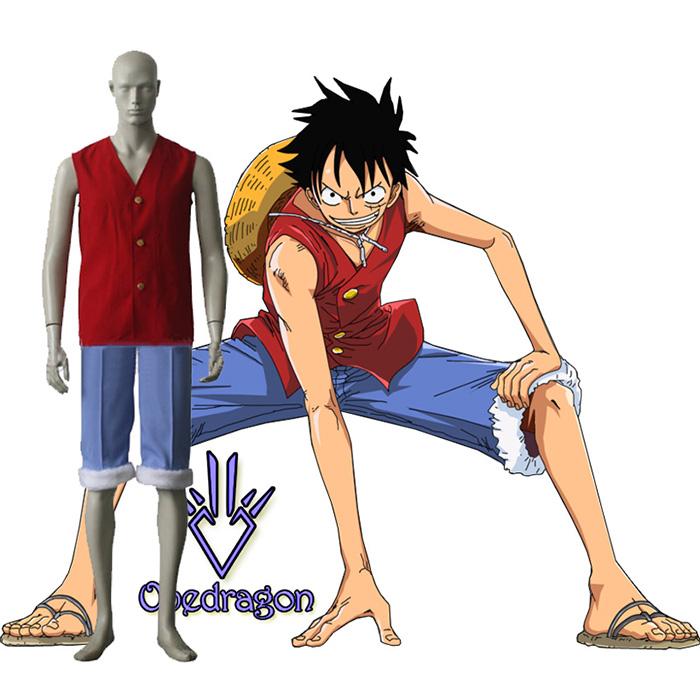 Luxury One Piece Monkey D. Luffy Cosplay Costumes Wellington