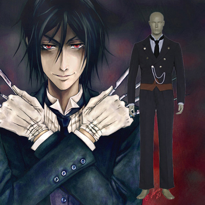 Top Black Butler Sebastian Michaelis Cosplay Costumes Sydney