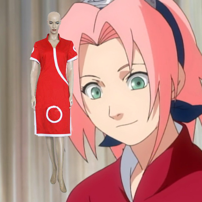 Naruto Sakura Haruno Cosplay Jelmez Karnevál