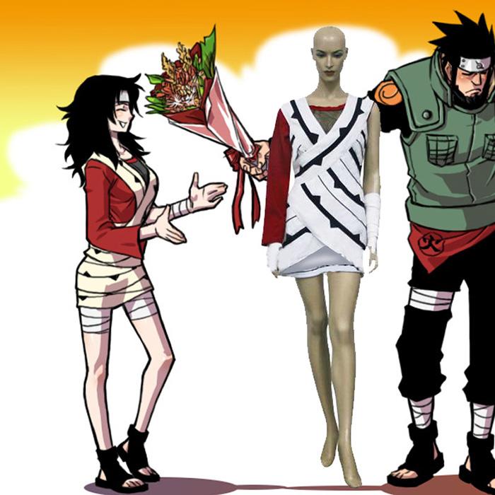 Naruto Yuuhi Kurenai Cosplay asut Naamiaisasut