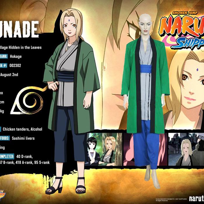 Naruto Tsunade 5th Hokage Cosplay asut Naamiaisasut