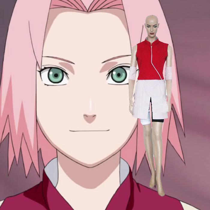 Naruto Shippuden Sakura Haruno Cosplay Kostume Fastelavn