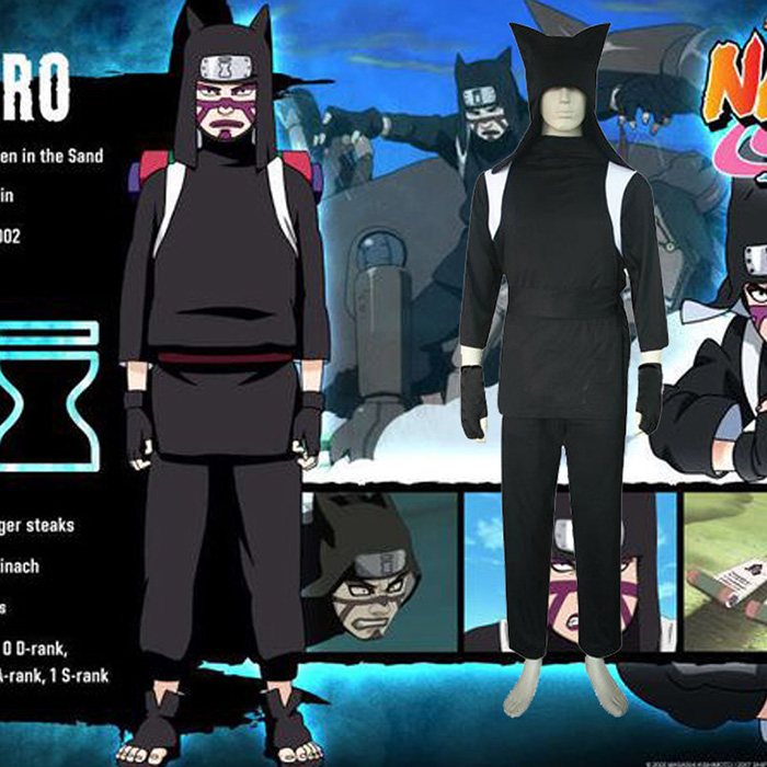 Déguisements Naruto Shippuden Kankuro Costume Carnaval Cosplay