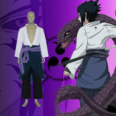 Naruto Shippuden Sasuke Uchiha Cosplay Kostyme Karneval