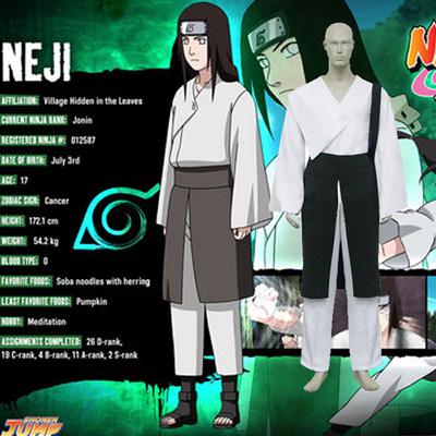 Naruto Hyuga Neji Cosplay Kostyme Karneval