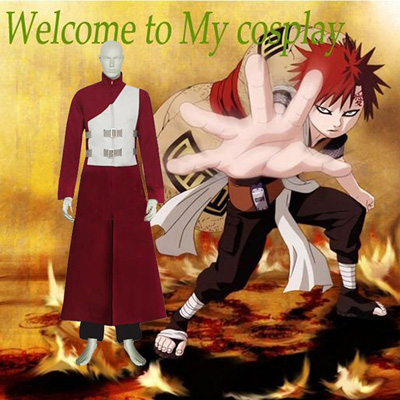 Luxury Naruto Shippuden Gaara Red Cosplay Costumes Wellington
