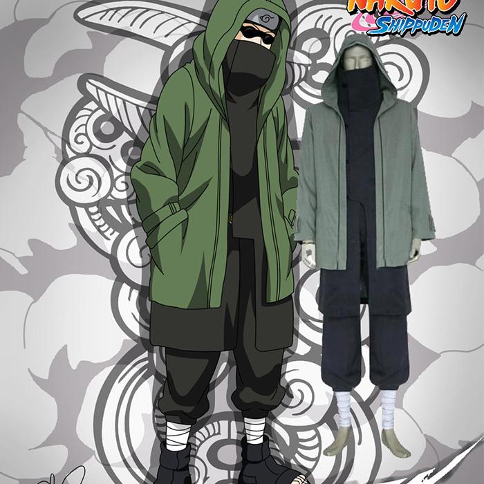 Déguisements Naruto Shippuden Shino Aburame Costume Carnaval Cosplay