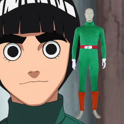 Naruto Rock Lee Cosplay Kostume Anime Fastelavn