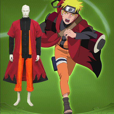 Luxury Naruto Uzumaki Sage Cosplay Costumes Wellington