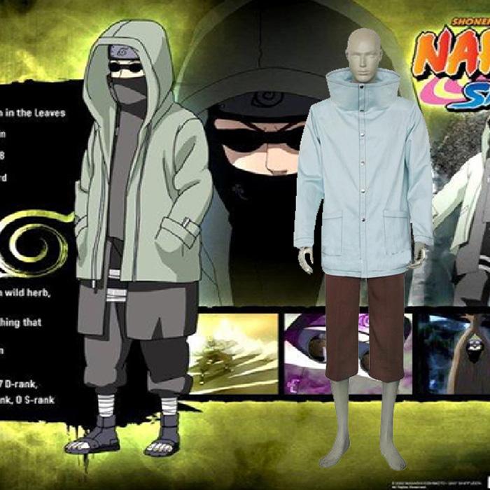 Naruto Shino Aburame Cosplay asut Vaatetus Naamiaisasut