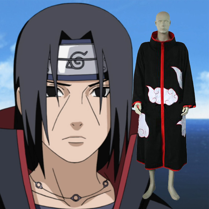 Naruto Itachi Uchiha Men\'s Cosplay Jelmez Karnevál