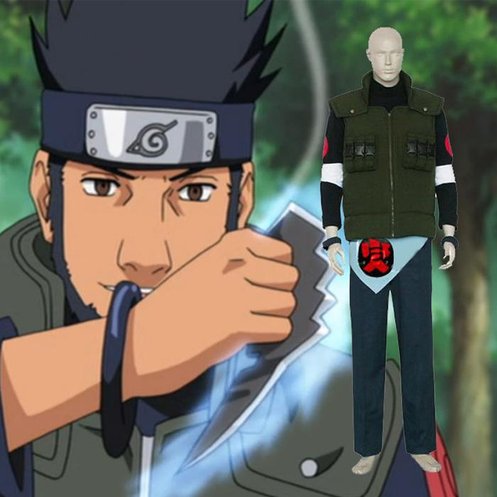 Naruto Asuma Sarutobi Cosplay Jelmez Ruházat Karnevál