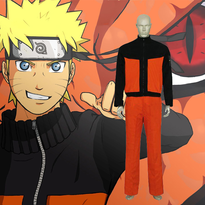 Naruto Shippuden Uzumaki Cosplay Jelmez Karnevál