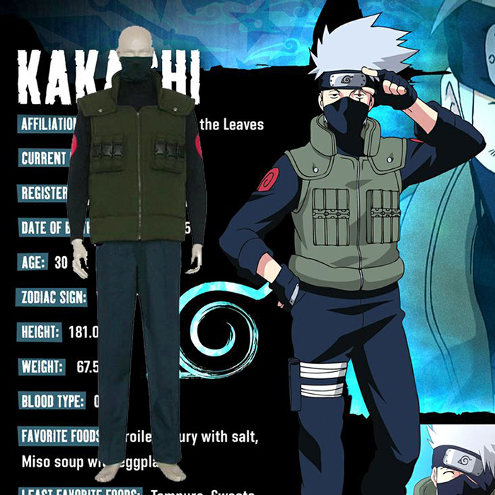 Luxury Naruto Hatake Kakashi Cosplay Costumes Wellington