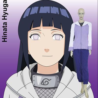 Naruto Shippuden Hinata Hyuga Cosplay Kostym Kläder Karneval