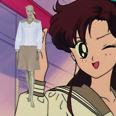 Sailor Moon Sailor Jupiter Lita Kino Skol Enhetlig Cosplay Kostym Karneval