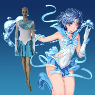 Sailor Moon Sailor Mercury Amy Anderson Cosplay Kostym Karneval