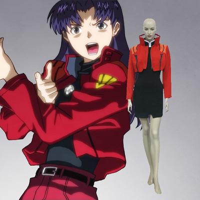 Neon Genesis Evangelion Misato Katsuragi Cosplay asut Naamiaisasut