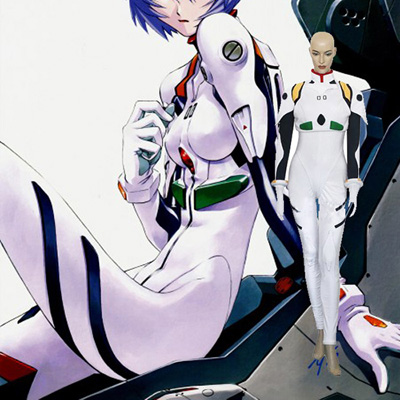 Neon Genesis Evangelion Rei Ayanami Plugsuit Cosplay asut Naamiaisasut