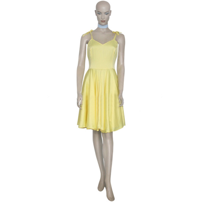 Neon Genesis Evangelion Asuka Yellow Dress Cosplay Kostume Fastelavn