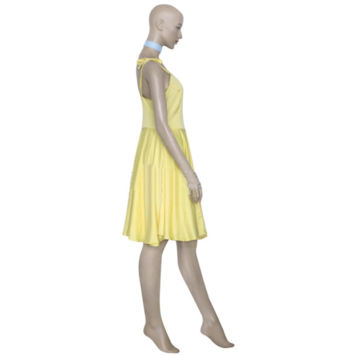 Neon Genesis Evangelion Asuka Sárga Dress Cosplay Jelmez Karnevál