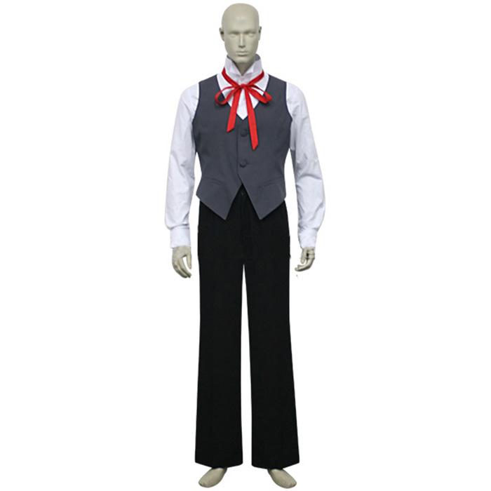 D.Gray-man Allen Walker Cosplay Kostume Tøj Fastelavn