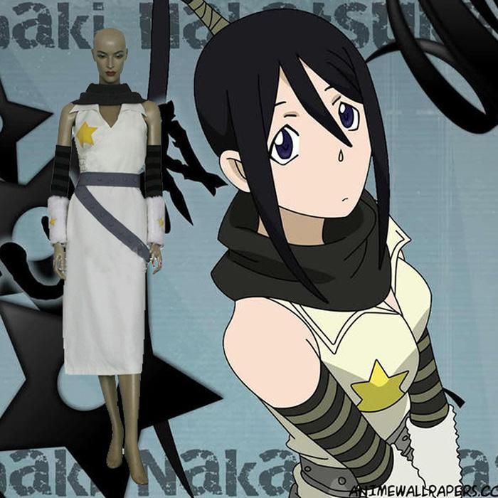Soul Eater Tsubaki Nakatsukasa Cosplay asut Naamiaisasut
