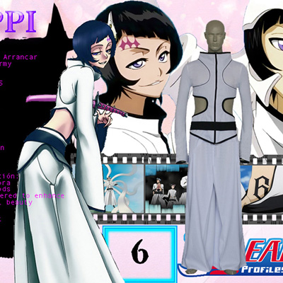 Bleach The Sixth Luppi Antenor Men Cosplay Kostume Fastelavn