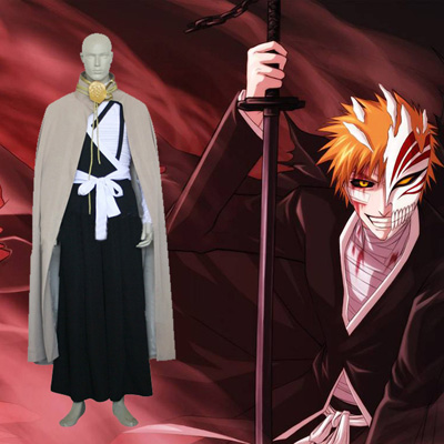 Bleach Kurosaki Ichigo Execution Ground Cosplay Traje Carnaval