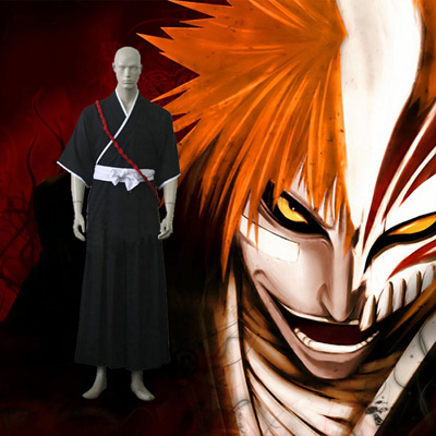 Luxury Bleach Ichigo Kurosaki Soul Reaper Uniform Cosplay Costumes Wellington