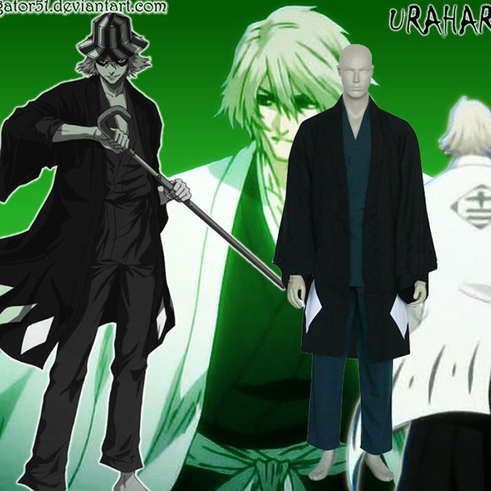 Bleach Urahara Kisuke Cosplay asut Naamiaisasut