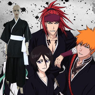 Luxury Bleach Kuchiki Rukia Soul Reaper Uniform Cosplay Costumes Wellington