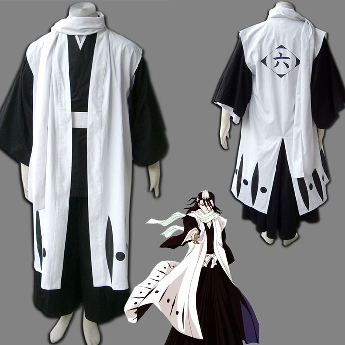 Top Bleach 6th Division Captain Kuchiki Byakuya Cosplay Costumes Sydney