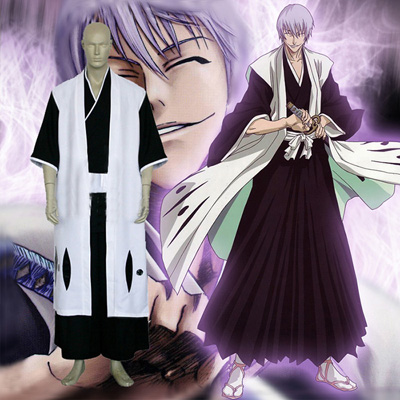 Top Bleach 3rd Division Captain Ichimaru Gin Cosplay Costumes Sydney