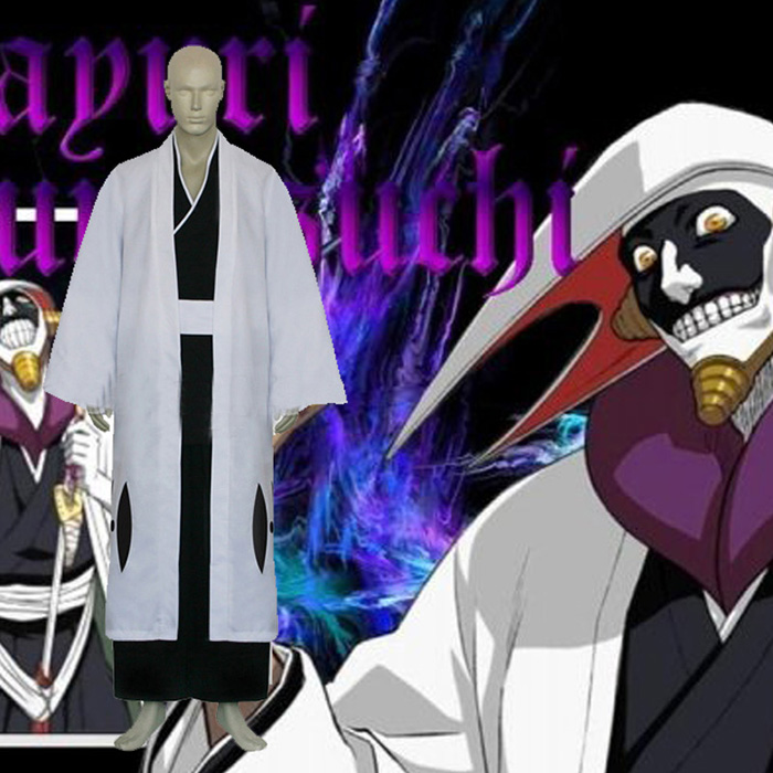 Bleach Kurotsuchi Mayuri Cosplay asut Vaatetus Naamiaisasut