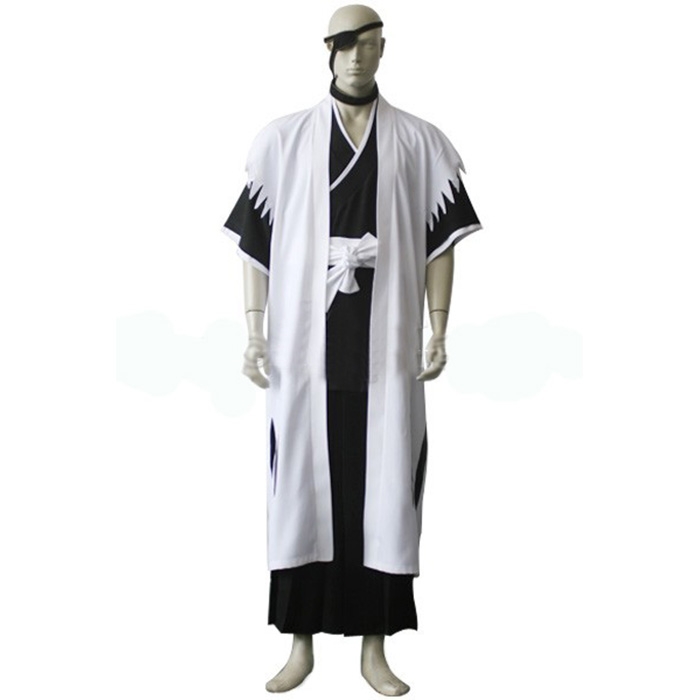 Bleach 11th Division Captain Zaraki Kenpachi Cosplay Jelmez Karnevál