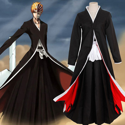 Bleach Kurosaki ichigo Solution Set Cosplay Kostyme Karneval