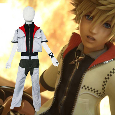 Kingdom Hearts 2 Roxas Kids Cosplay Kostym Karneval