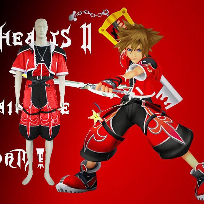 Kingdom Hearts 2 Sora Brave Form Cosplay asut Naamiaisasut