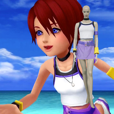 Kingdom Hearts 1 Kairi Cosplay Kostuum Carnaval Halloween